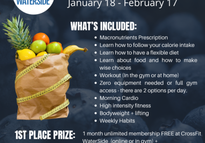 JOIN US IN OUR ANNUAL WATERSIDE NUTRITION CHALLENGE!!